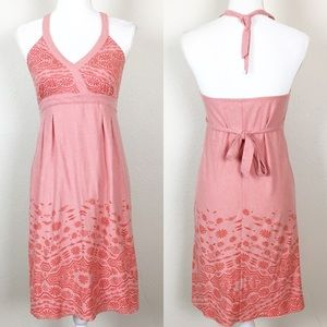 Athleta | Pink Halter Sun Dress Small